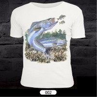 Fish Pattern T-Shirt for Fishing 002
