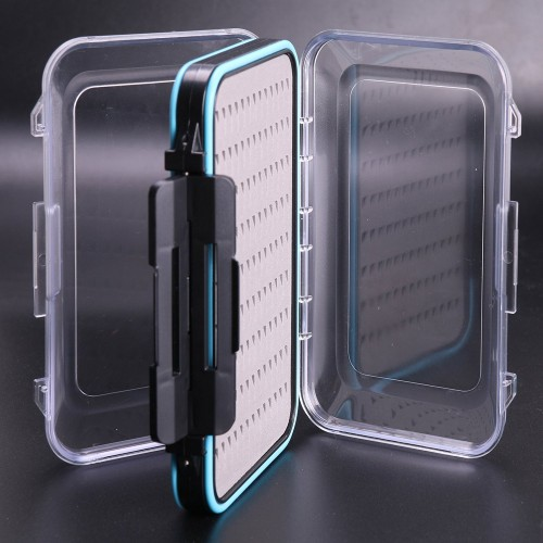 Details about  /3 Size Slim Clear Easy Grip Foam Plastic Fly Fishing Box Holds Plastic show original title