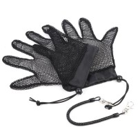 2pcs Fish Landing Gloves Fishing Mesh Gloves