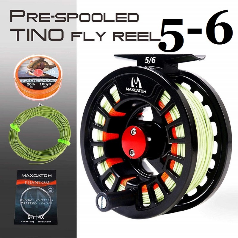 Tino 5/6WT Reel with line Combo +$7.00