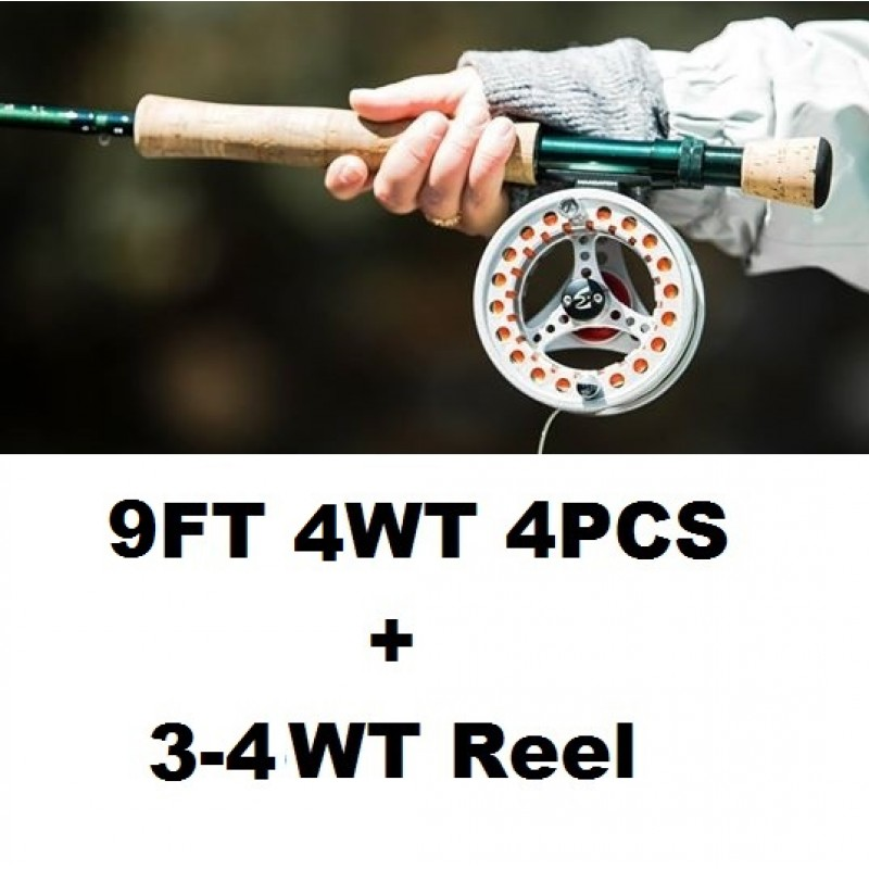 9FT 4WT 4PCS+3-4WT Reel +$1.00
