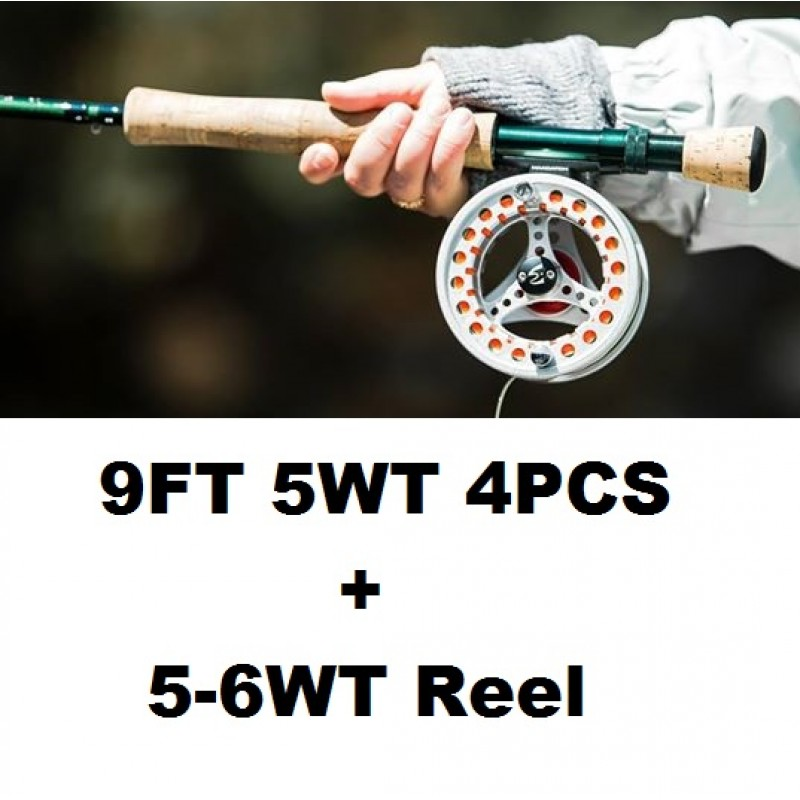 9FT 5WT 4PCS+5-6WT Reel +$1.00