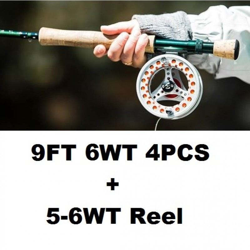 9FT 6WT 4PCS+5-6WT Reel +$1.00