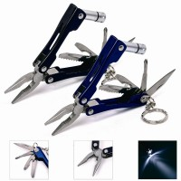 LED Flashlight Knife For Camping Multi Tool Fishing Pliers