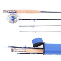 Fly Fishing Rod Combo 9' 4/5/6/8WT Graphite IM10, 3/4 5/6 7/8WT CNC Machined Fly Reel