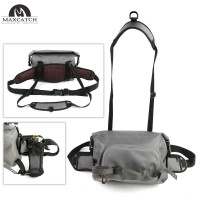 Adjustable Six Compartments Waterproof Fly Fishing Bag Sling Bag Fishing Reel Pack