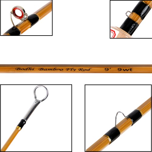 Bamboo fly rod 9093 double tip