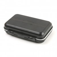 CFA Waterproof Plastic Fly Fishing Box with Slit Foam 136x86x36mm Fly Box Black Color Fishing Tackle Box