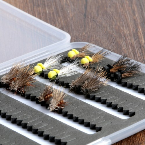 Caddis Dry Flies 14#/16# Hooks 6 Patterns 12pcs Fly Fishing Flies
