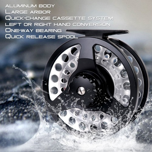 Cassette Fly Reel With 3 Extra Cassette Spools Fly Reel Combo