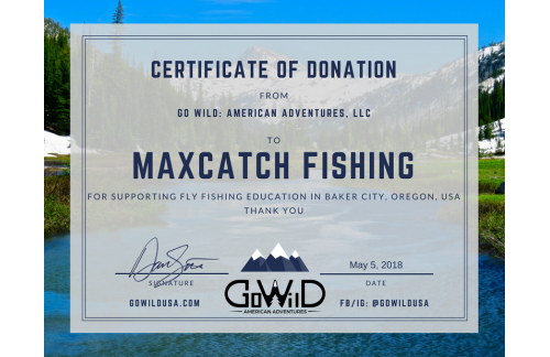 Fly Fishing Beginner Outreach Sponsorship by Maxcatch Fishing.