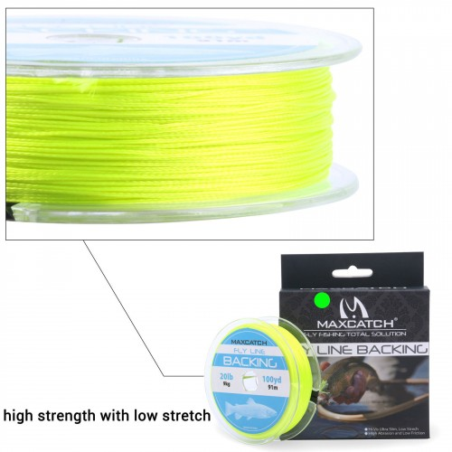 Backing Line Tapered Leader Maxcatch WF1F-9F Floating Fly Fishing Line Combo