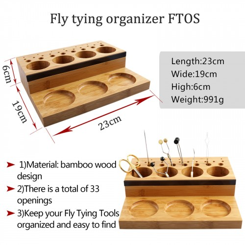 Fly Tying Tool Organizer/Station/Bar Tool Post Caddy Rotating DIY