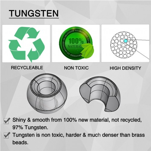 Tungsten Beads Head Ball Fly Tying Material 18 Different Colors