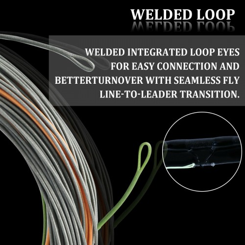Real Perception Floating Fly Fishing line WF2-8F with Two Welded Loops