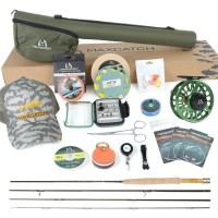 V-feather fly fishing complete combo outfit