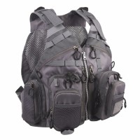 Fly Fishing Mesh Vest Adjustable Mutil-Pocket Outdoor Sport Backpack