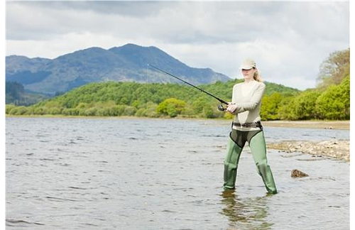 American girl fly fishing outfit