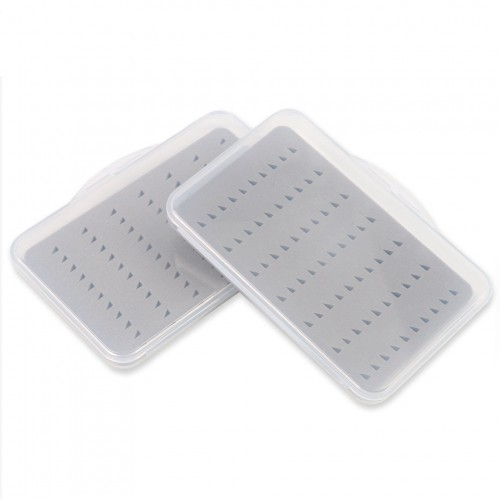 2Pcs Transparent Waterproof Fly Fishing Boxes Small Size