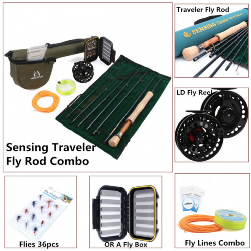 Traveler Fly Fishing Rod Combo Graphite IM10/30T+36T Carbon Fiber Fly Rod with Fly reel Kit
