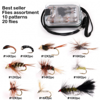 Kenya Fly Flies with Fishing Box Hand-Selected Hackle 9 Assortments Fly Flies