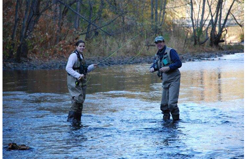 Fly fishing learning experience of asheville rivers