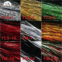 Fly Tying Material 9 Bags Lure Making Material Holographic Flashabou Red Black