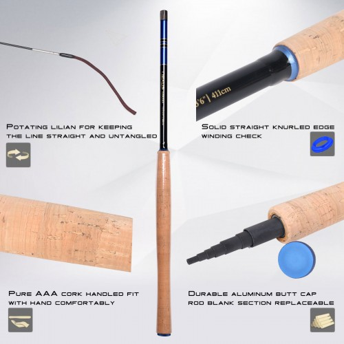 Nexus Tenkara rod combo 12/13/13'6ft 7:3 Action Fly Fishing Rod Complete Kit