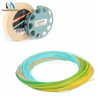 Professional WF5F Fly Line 4colors 25m/section Tracking Line With Welded Loops