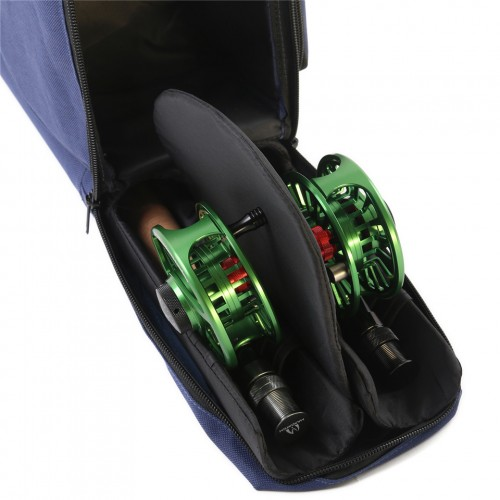 Double Fly Rod Storage 9FT/10FT Fly Fishing Rod Tube Fly Rod Reel Case Hold 4Sec Rods Cordura