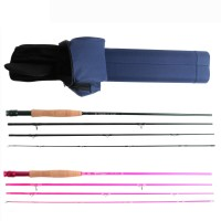 2PCS Couple Rod & Case 9' 5wt 4pcs Rod for Two Fishing Anglers