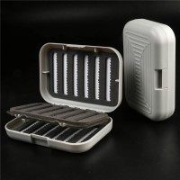 3 Pieces High Quality Fly Fishing Box Small White Color With Swing Leaf Plastic Fly Box
